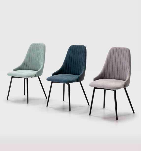 Imagen de varias sillas de la Serie Elma